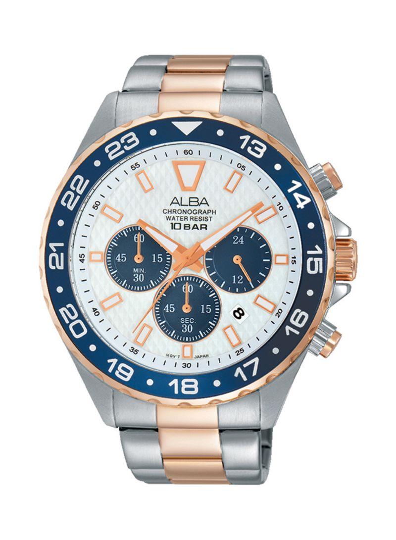 Shop Alba Men's Stainless Steel Analog Watch AT3906X1 online
