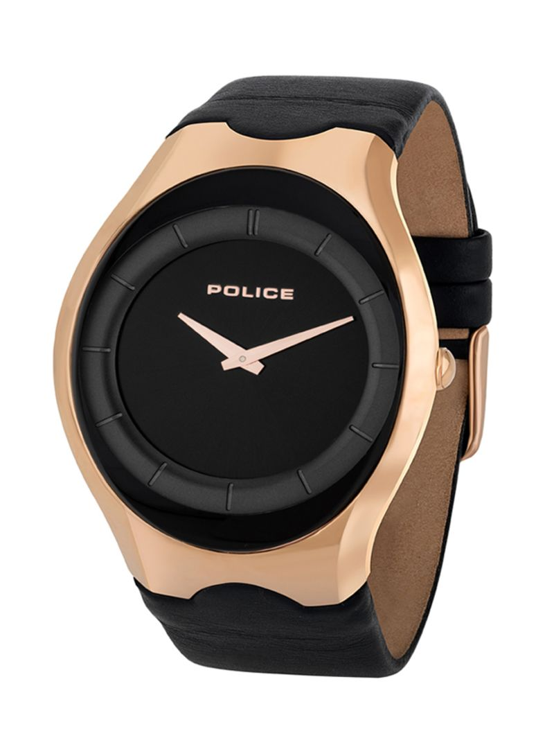 31de5da48 Shop Police Men's Sphere II Leather Analog Watch P 15435JSR-02 ...