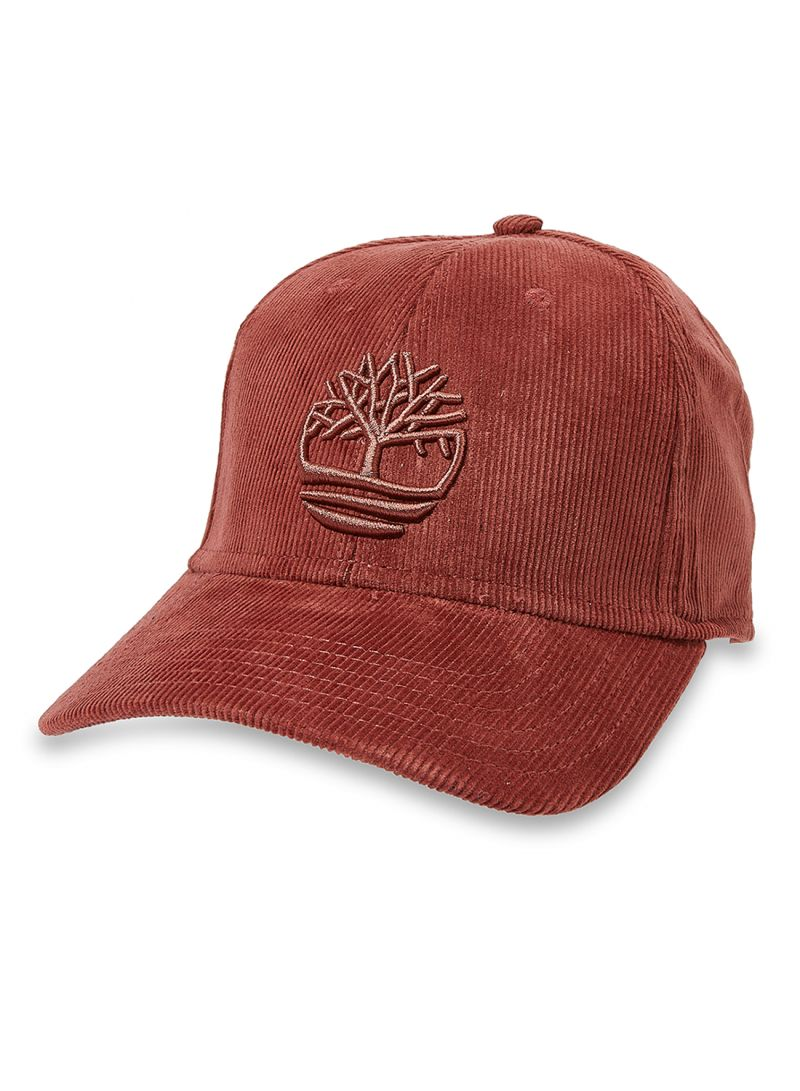 a55ef35146c Shop Timberland Corduroy Tree Logo Baseball Cap Brown online in ...