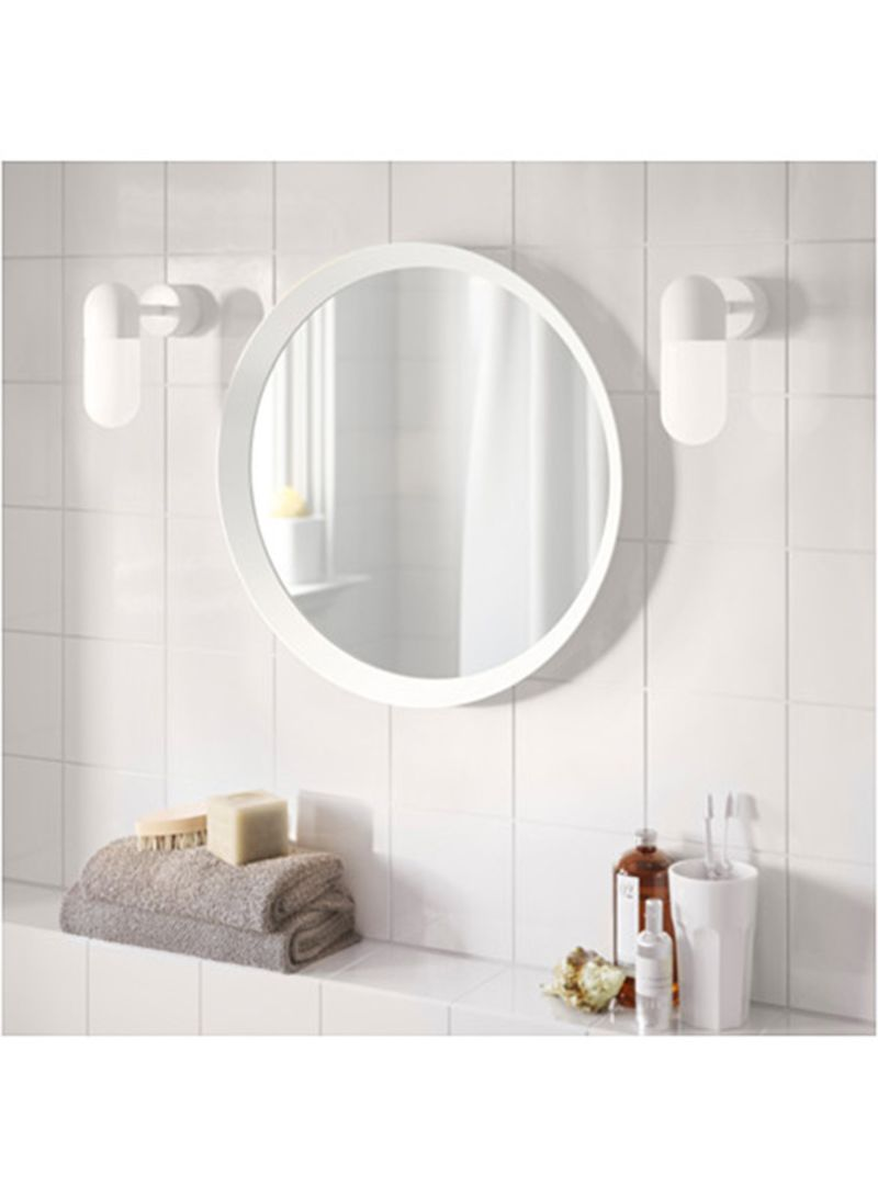 Shop Ikea Langesund Bathroom Mirror White 9x9x9centimeter