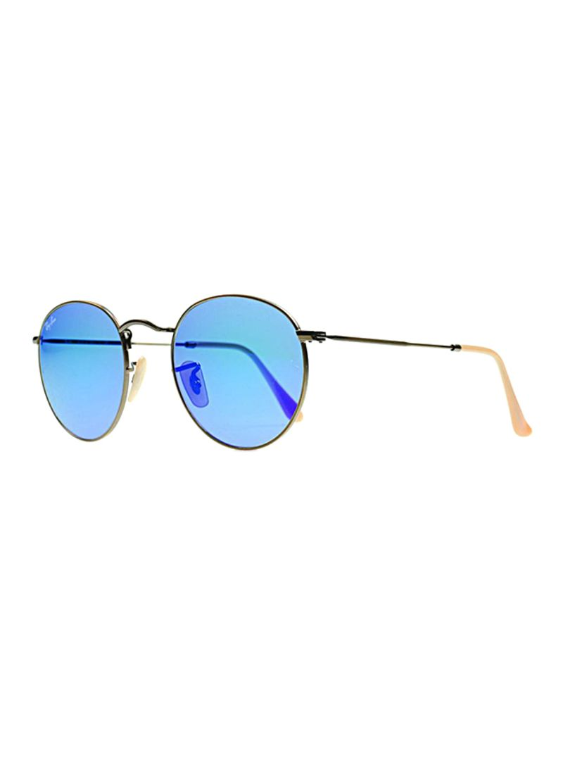 08a600ea1 Shop Ray-Ban Mirrored Round Frame Sunglasses RB3447 167/68 online in ...