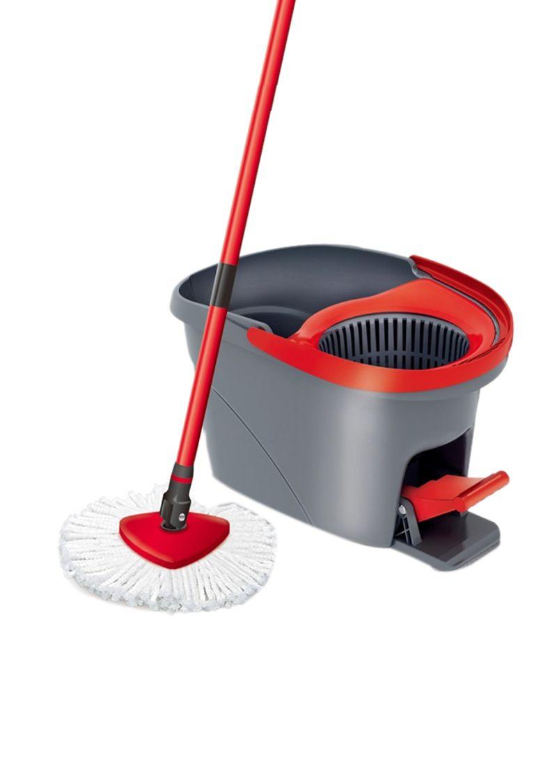 Shop Vileda Easy Wring And Clean Spin Floor Mop Set Red