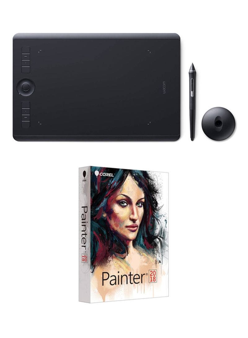Shop Wacom Intuos Pro Small Pen and Touch Tablet 13-Inch + Free Corel  Painter 2018 Worth 400$ Black online in Dubai, Abu Dhabi and all UAE