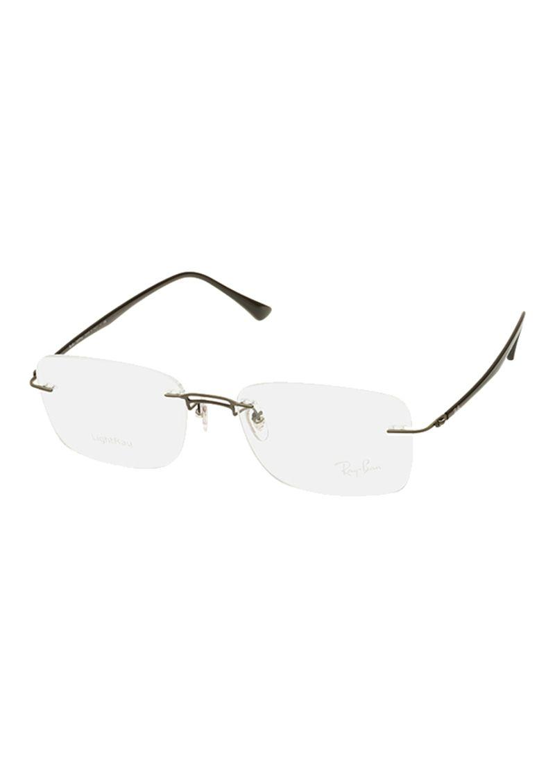 2874184da801 Shop Ray-Ban Rimless Rectangular Frame Eyeglasses RB8750 1128 online ...