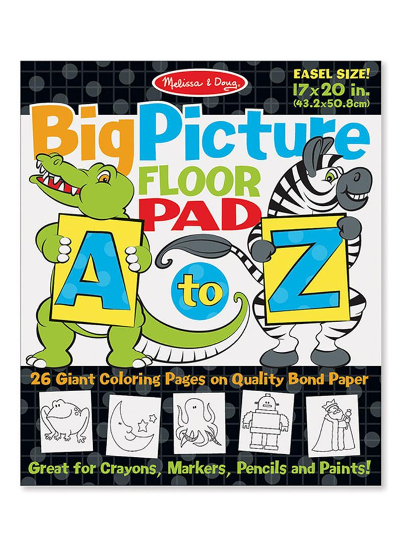 Shop Melissa & Doug A To Z Picture Colouring Book online in ...