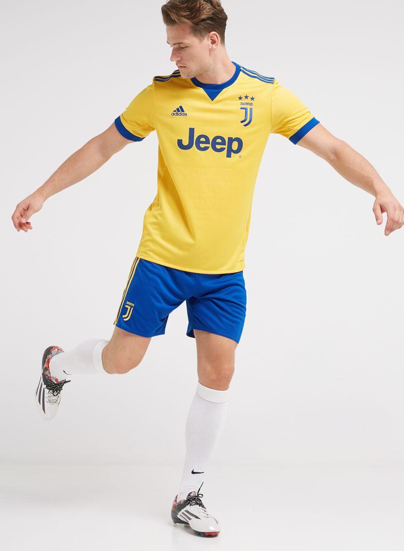 5a16d438b Shop adidas Juventus 17 18 Away Shorts Gold Blue online in Riyadh ...
