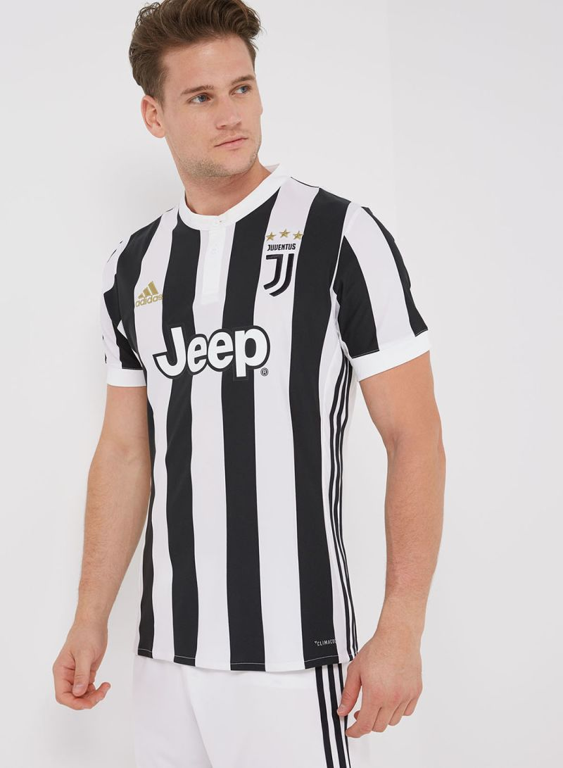 newest ef394 c6ade Shop adidas Juventus Home Replica Jersey White/Black online ...