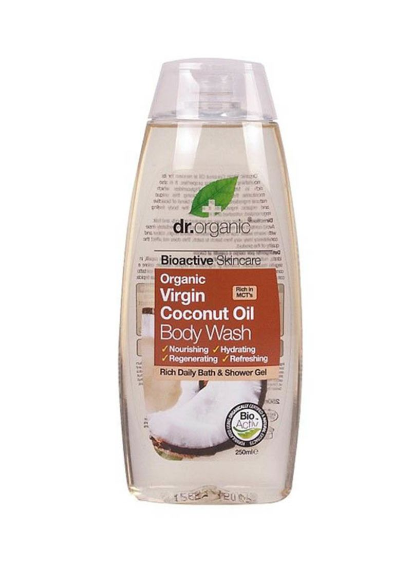 Shop Drorganic Bioactive Skincare Virgin Coconut Oil Body Wash 250 125 Ml