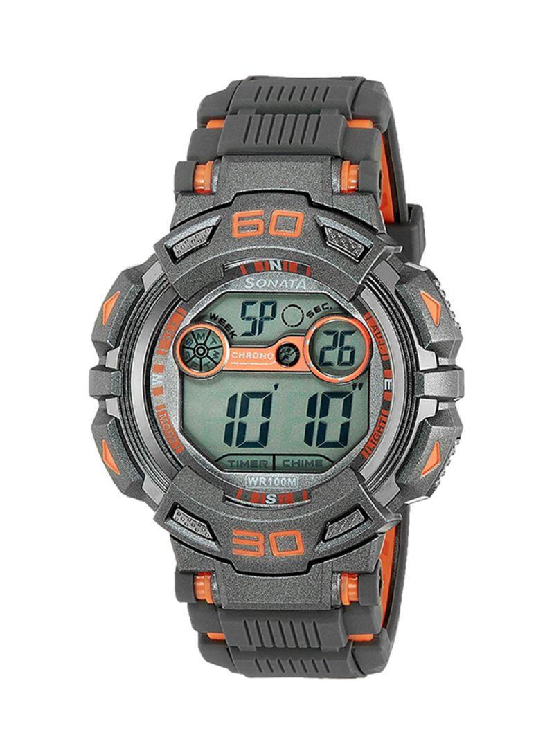 f132ddc93 Shop Sonata Men's Water Resistant Digital Watch 77009Pp03 online in ...