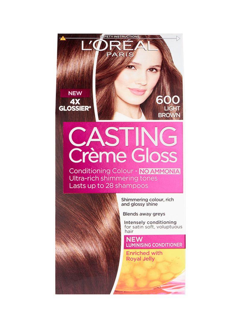 Shop L Oreal Paris Casting Creme Gloss Hair Color 600 Dark Blonde 600 Light Brown Online In Dubai Abu Dhabi And All Uae