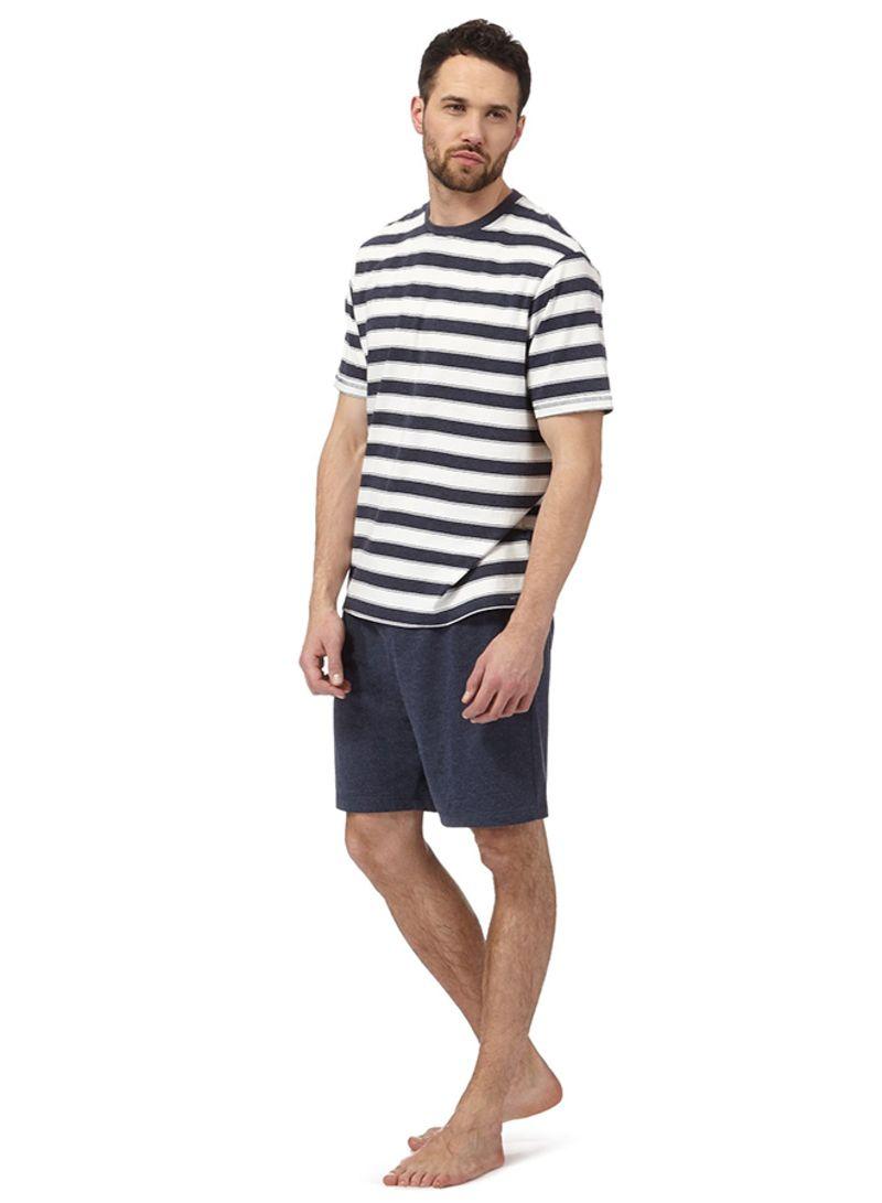 11b610b6187d9 Shop Debenhams Maine New England Big And Tall Striped Loungewear Set ...