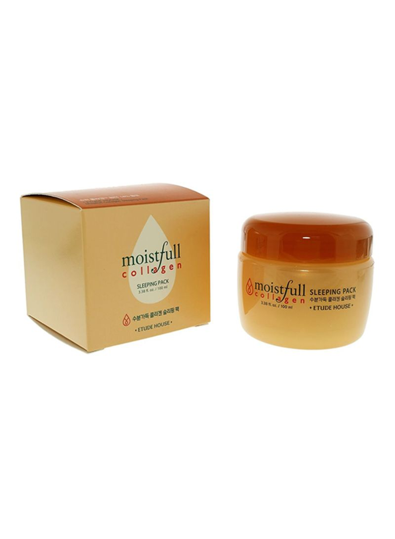 Moistfull Collagen Sleeping Pack Night Cream Peach 100 ml