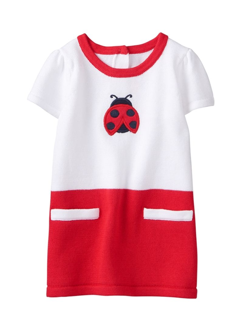 918bbd1c5 Shop GYMBOREE Ladybug Dress White Red online in Dubai