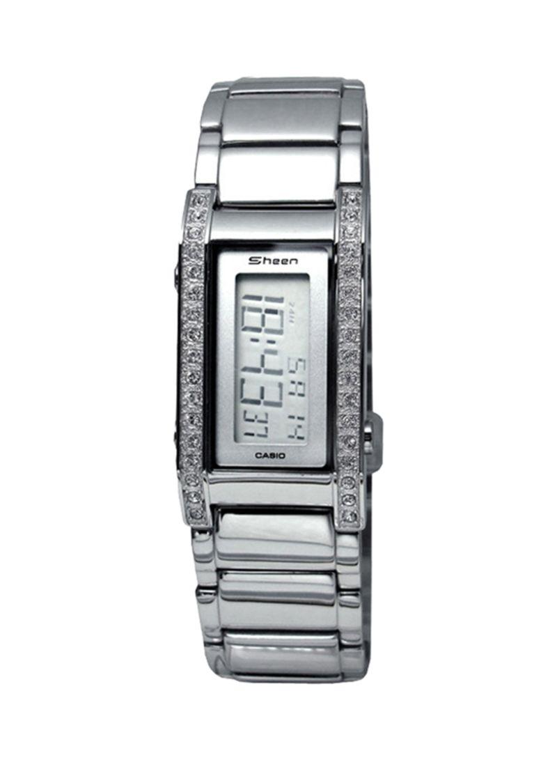 f46763f14 Shop Casio SHEEN Stainless Steel Digital Watch 1006D-7ADR online in ...