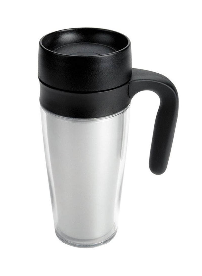 Shop OXO Double Wall Plastic Mug Silver 355 ml online in