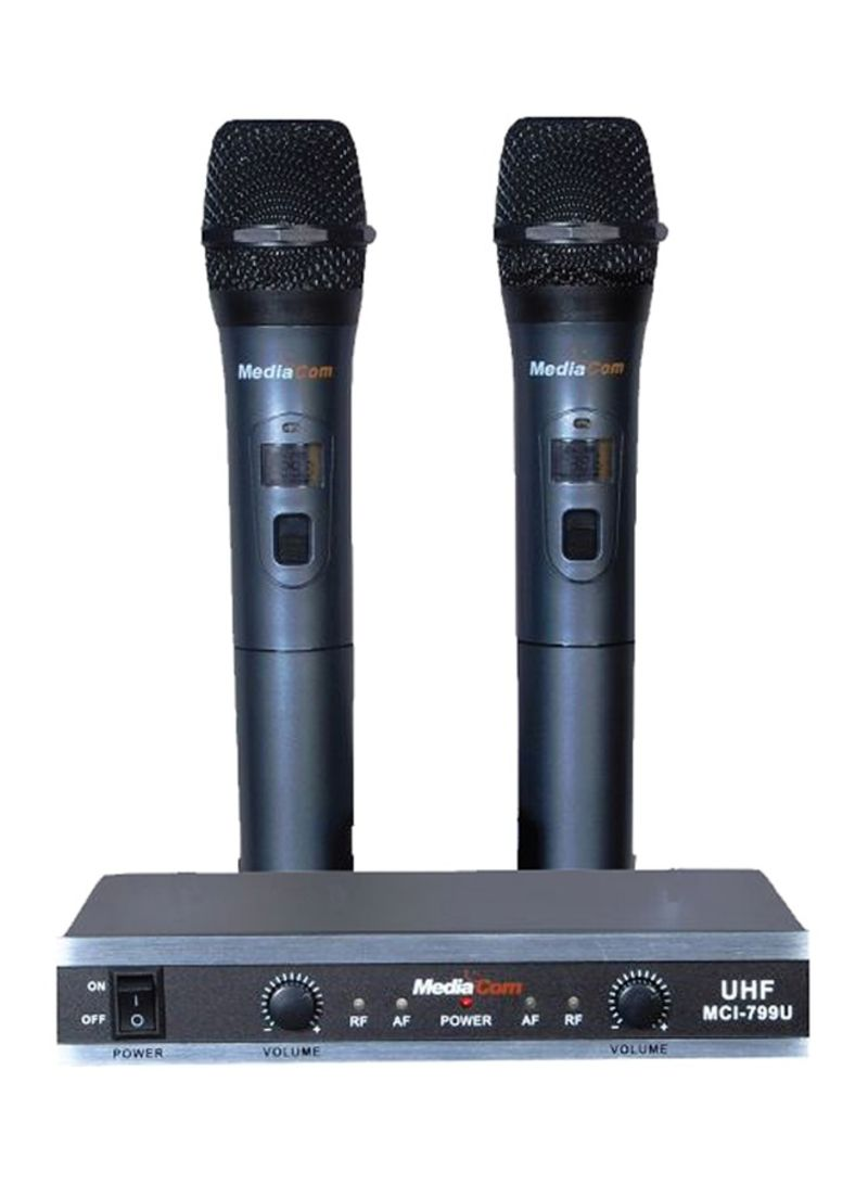 Shop MediaCom MCI 799U Karaoke System With 2 Wireless Microphone 799U Black  online in Dubai, Abu Dhabi and all UAE