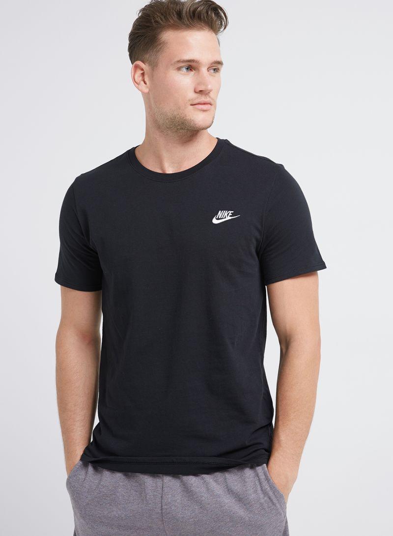 Shop Nike M NSW TEE CLUB EMBRD FTRA Black online in Dubai 20c271fd43557