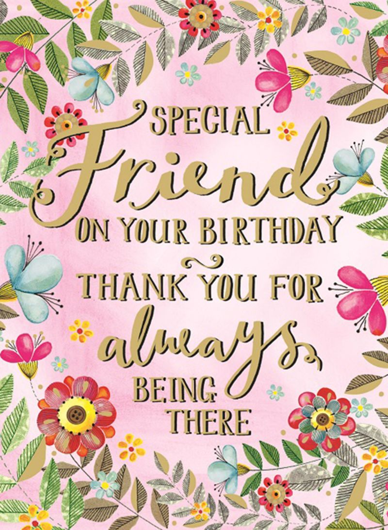 Brilliant Shop Rachel Ellen Designs Special Friend Birthday Greeting Card Funny Birthday Cards Online Inifodamsfinfo