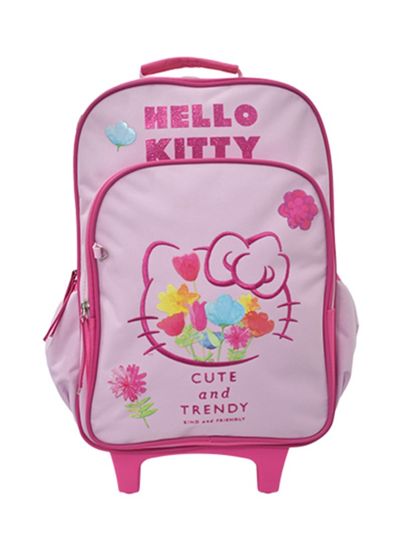 3709000f030ab Shop Hello Kitty Trolley Backpack With Pencil Case 15 inch online in ...