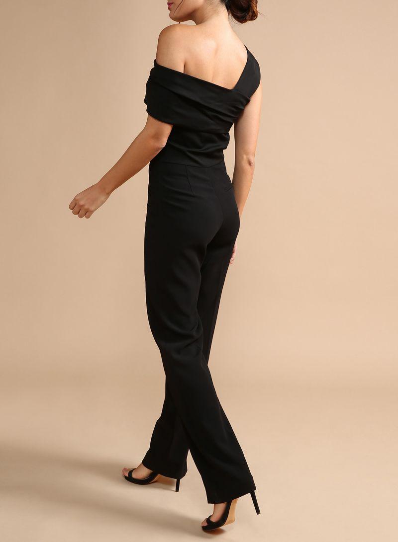 1a2f57a98a2 Shop REISS Perla One Shoulder Jumpsuit Black online in Dubai