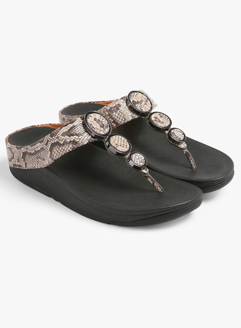 e3bc53e5a83 Shop fitflop Snake Print Leather Toe-Thong Sandals online in Dubai ...