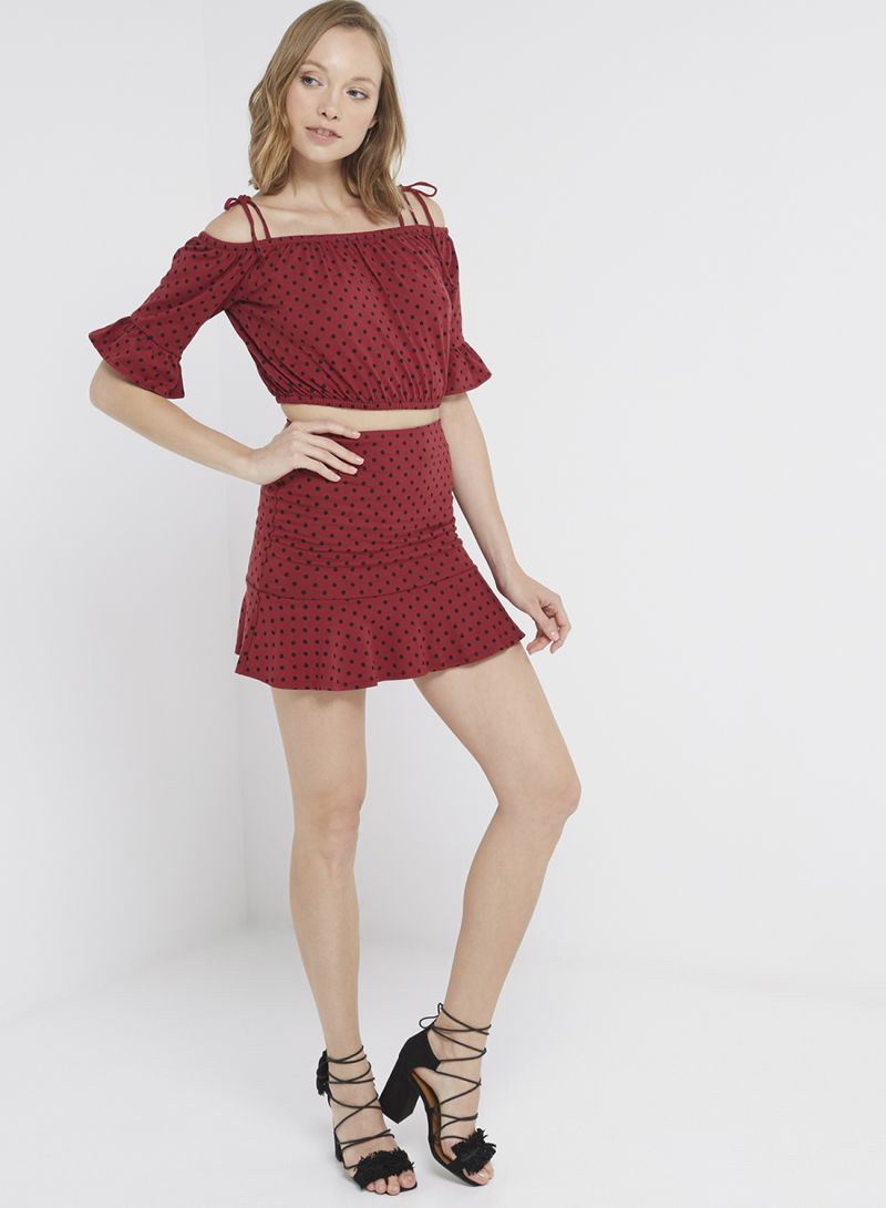 204e01056c5dfe Shop Forever 21 Off Shoulder Knitted Top Wine/Black online in Dubai, Abu  Dhabi and all UAE