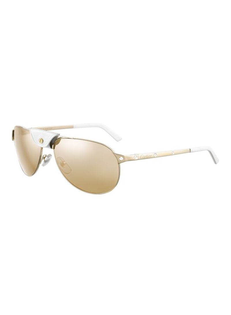 68e9960eecf Shop CARTIER Full Rim Aviator Sunglasses ESW00009 A00A46L online in ...