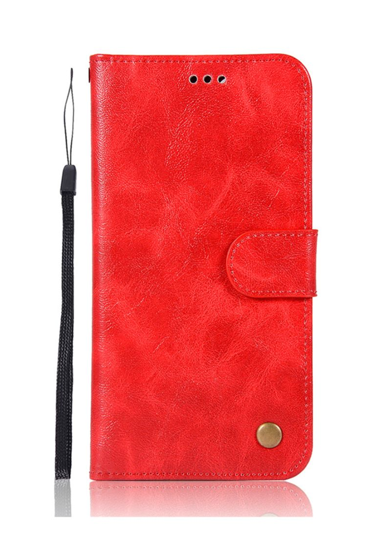 pretty nice d411f 585f8 Shop Generic Luxury Retro PU Leather Wallet Flip Case Cover Xiaomi Mi  A1/M5X/Mi5X Red online in Dubai, Abu Dhabi and all UAE