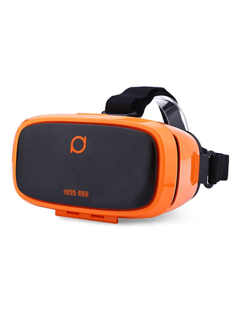 e899bc4b5 سماعة رأس الواقع الافتراضي ثلاثية الأبعاد للأفلام وألعاب الفيديو للهواتف  الذكية بقياس 5-6 بوصة برتقالي/أسود
