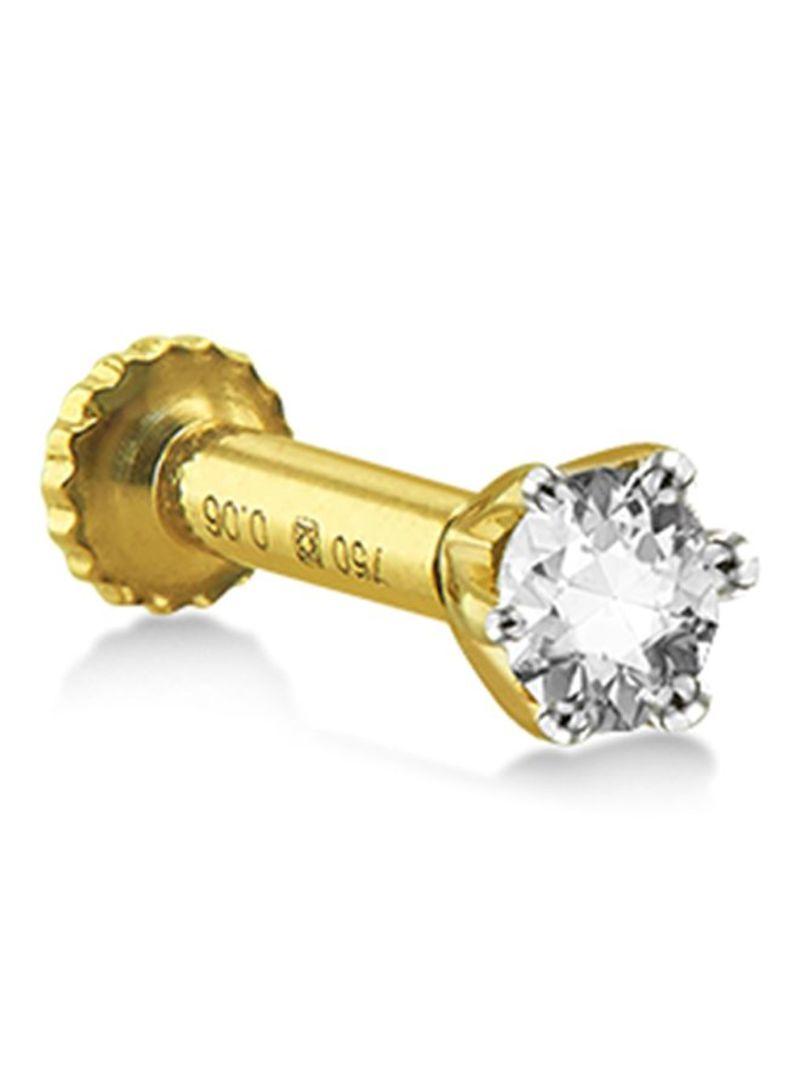 Shop Jewel Corner 18 Karat Tara Diamond Nose Pin Online In Riyadh