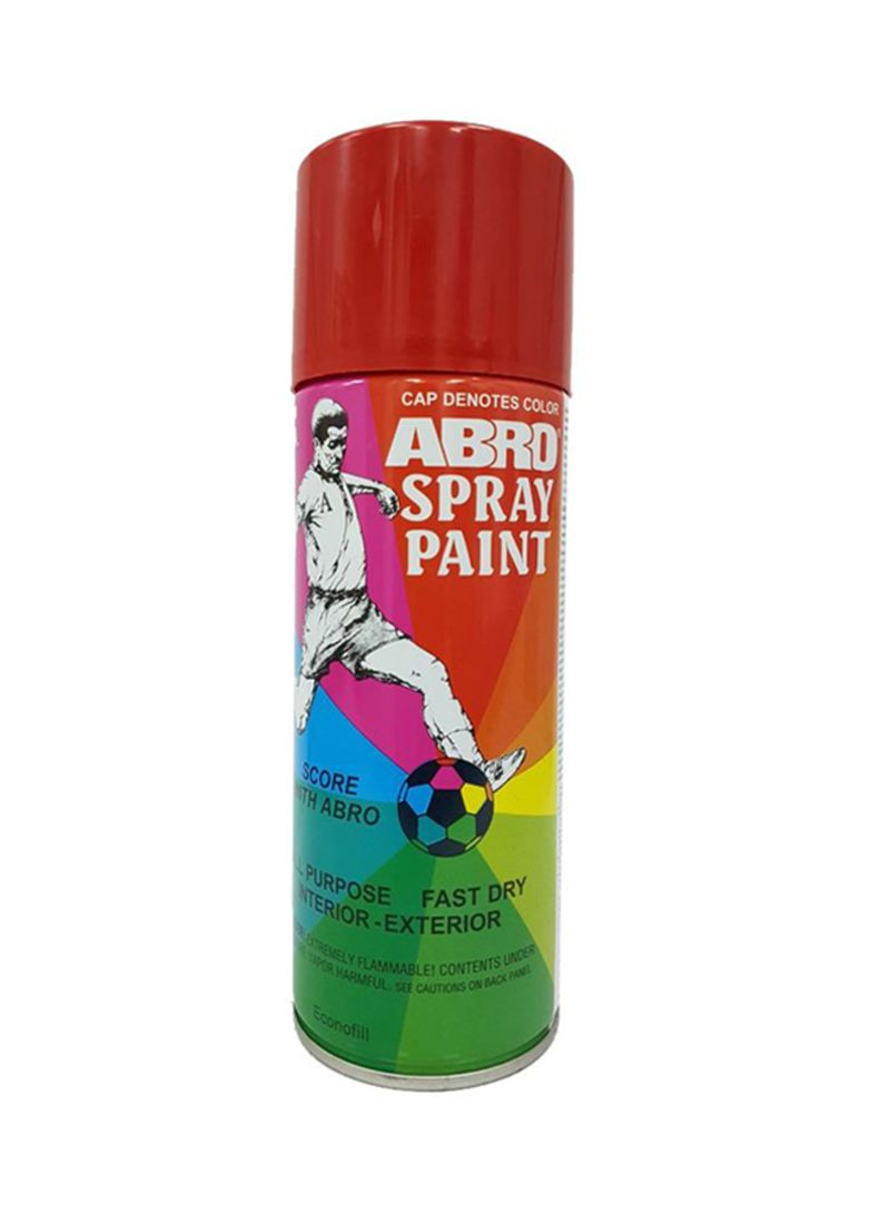 Shop Abro All Purpose Spray Paint Fire Red Online In Dubai Abu Dhabi And All Uae