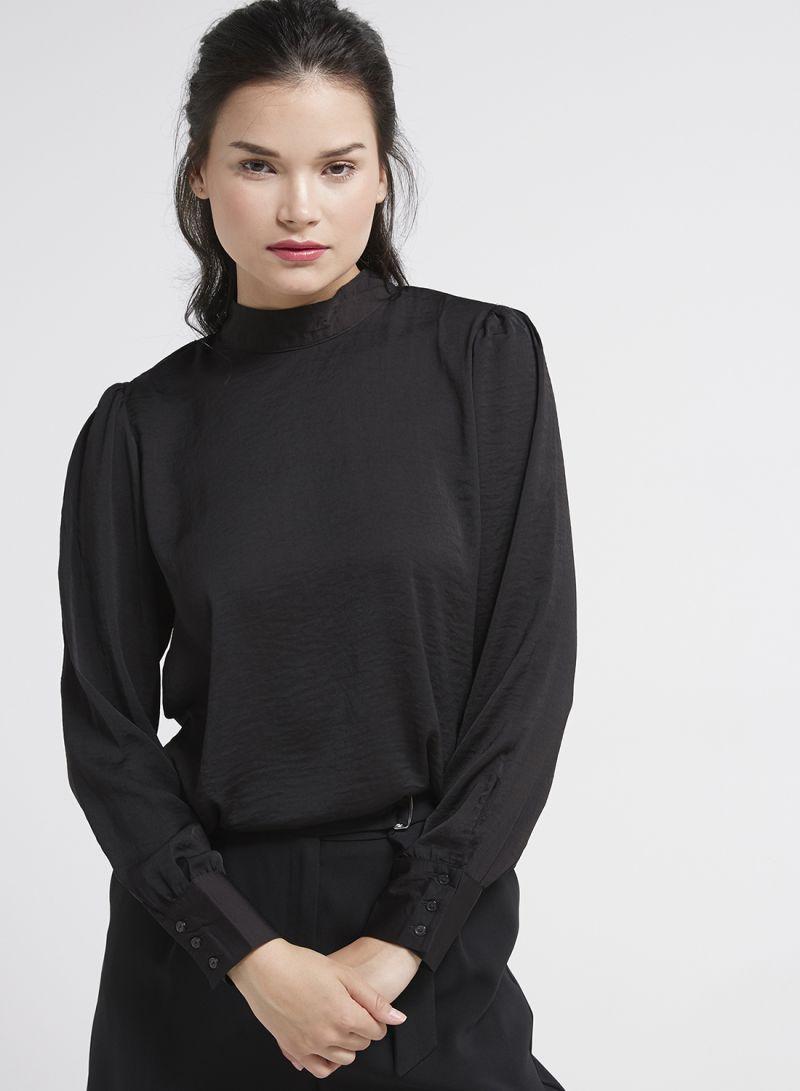 6b8a60b0c68 Shop Jacqueline De Yong Back Lace Detail Top Black online in Dubai ...