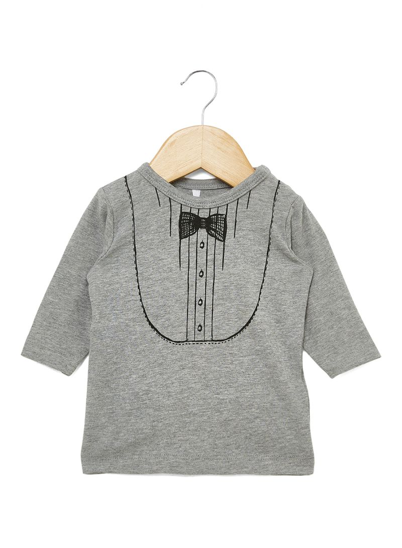 417c73a911b Shop Name It Bow Print T-Shirt Grey Melange online in Dubai