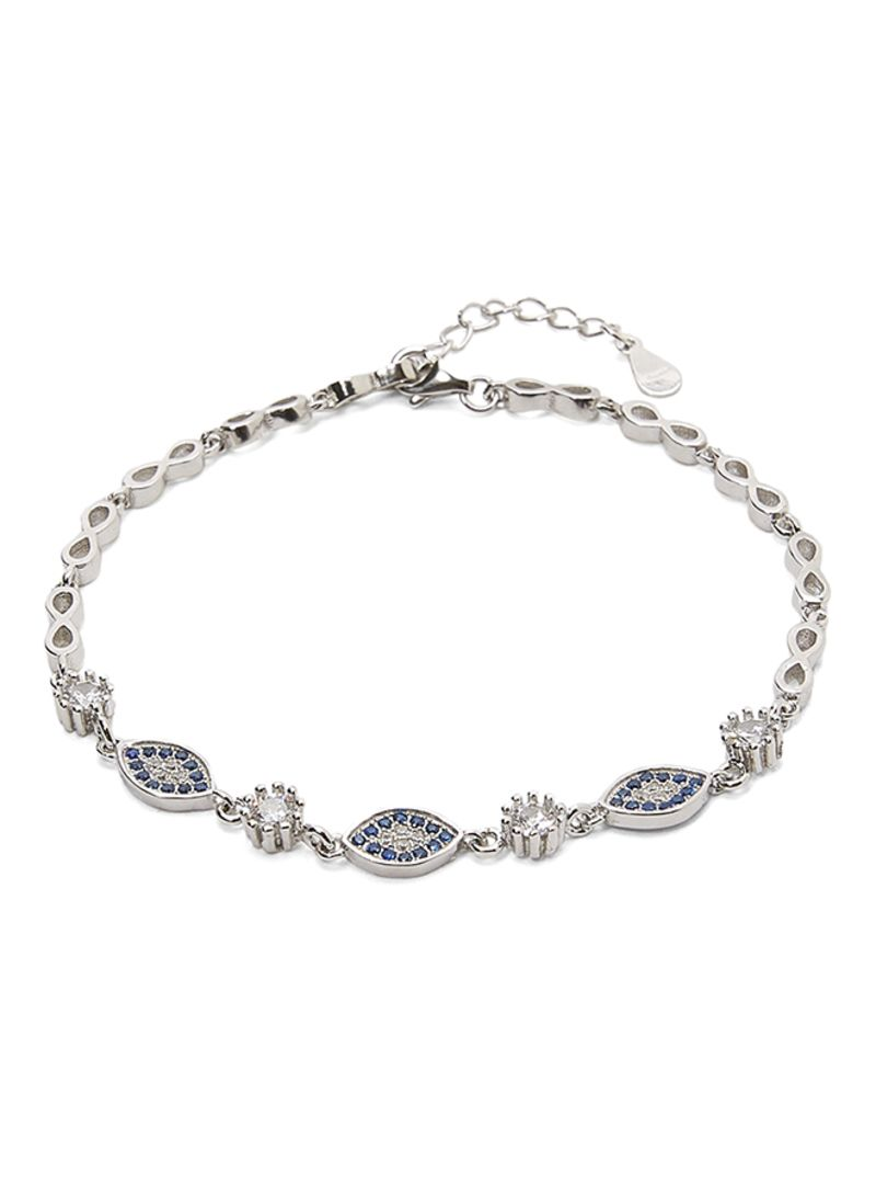 Shop AK Jewels 925 Silver Evil Eye Bracelet With Zircon Online In