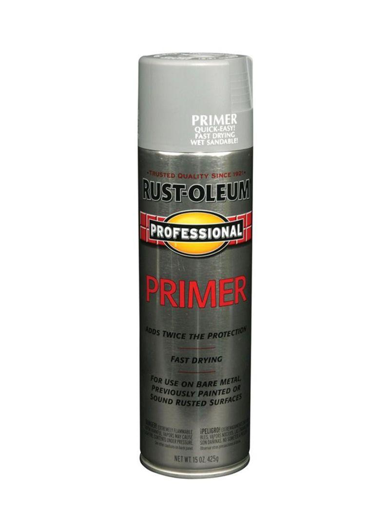 Shop Rust-Oleum Professional Primer Enamel Spray Paint 7582838 Flat Grey 15  ounce online in Dubai, Abu Dhabi and all UAE