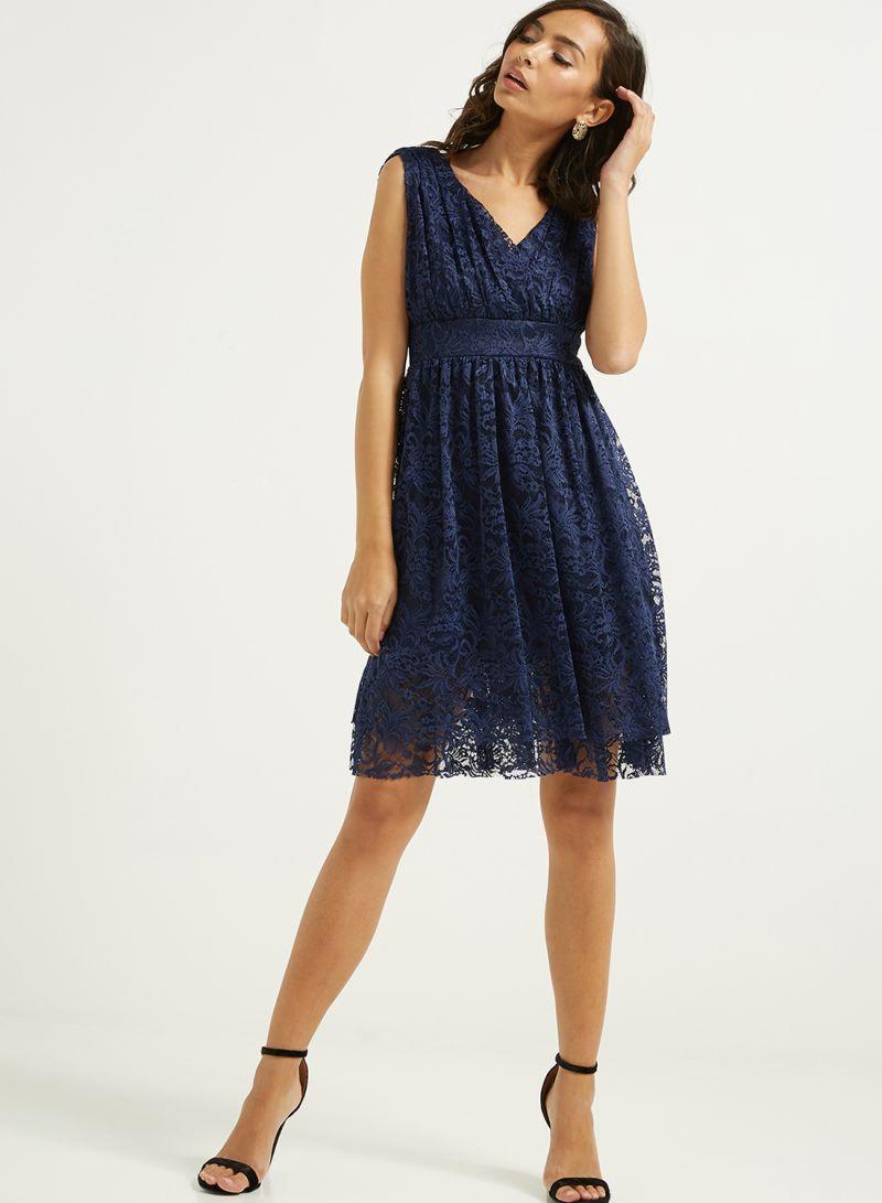 db1f18fe0eb4 Shop Golden Apple Sleeveless Mini Dress Navy online in Dubai, Abu ...