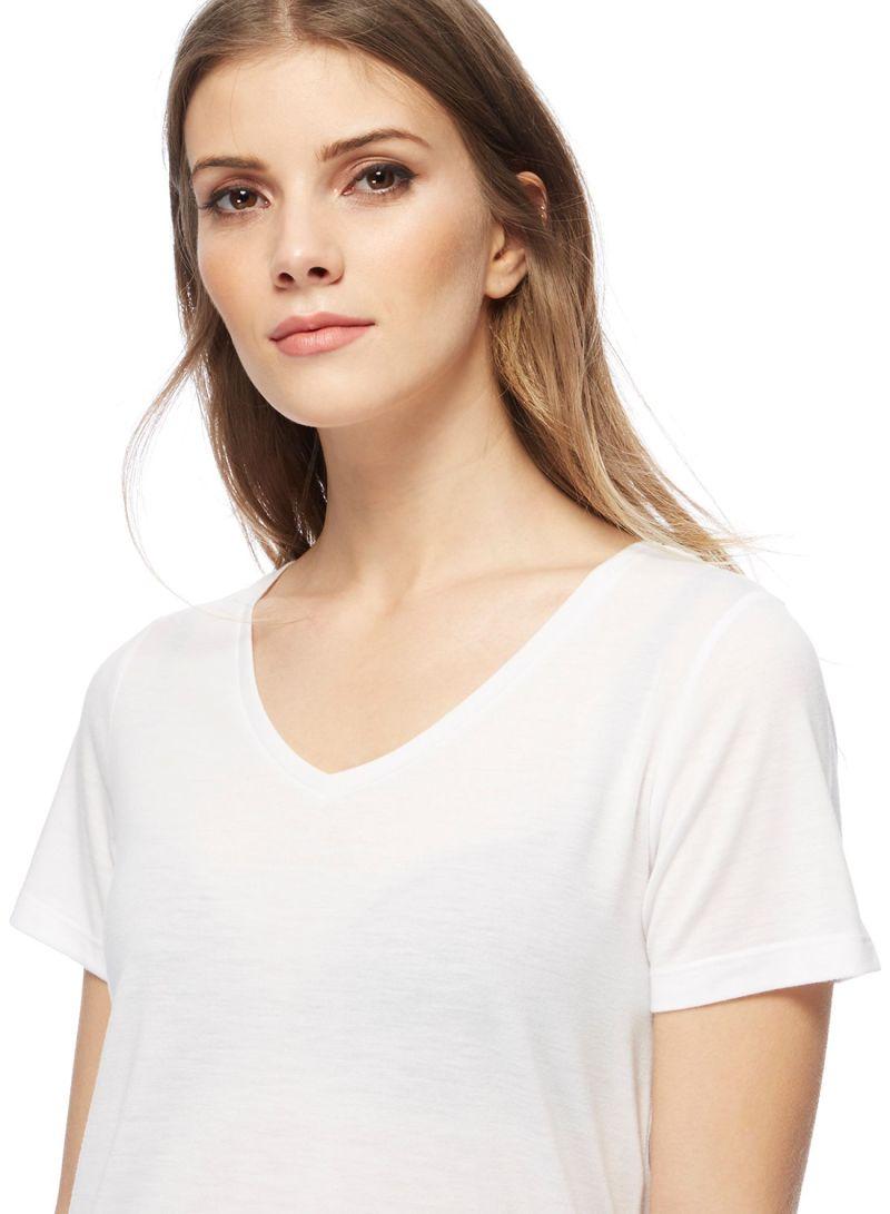 197f76f308f Shop Debenhams Red Herring V Neck T-Shirt White online in Dubai