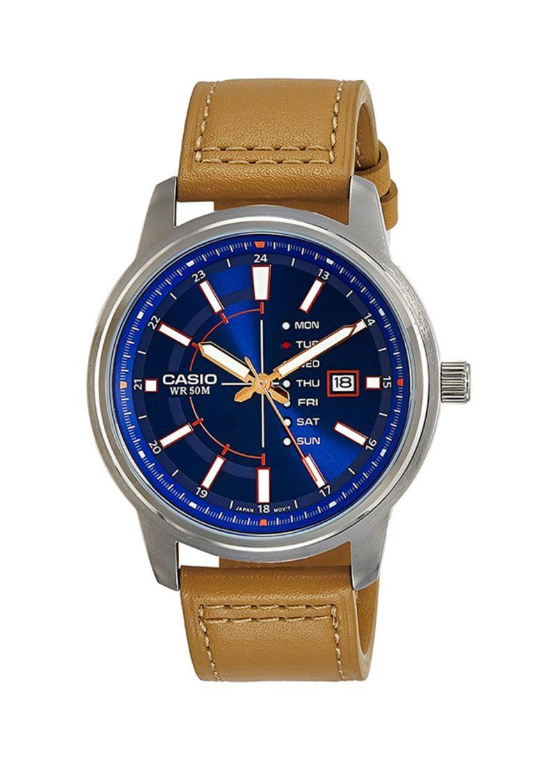 c2899f3ae Shop Casio Men's Leather Analog Watch MTP-E128L-2A2 online in Dubai ...