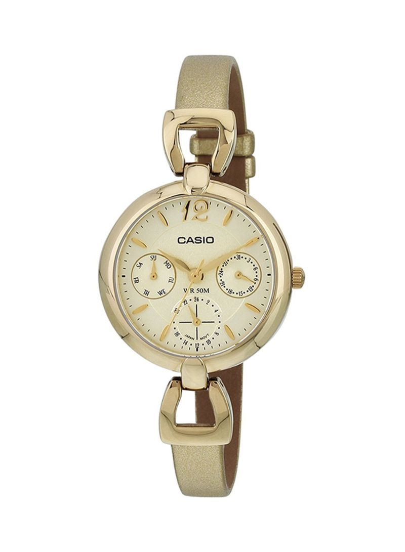 719bf03a7 Shop Casio Women's Leather Analog Watch LTP-E401GL-9A online in ...