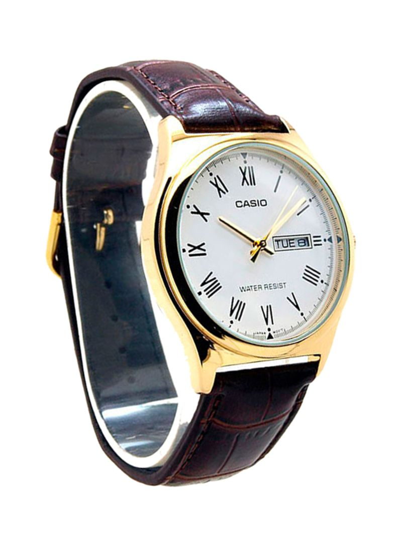 3d4d75e40 Shop Casio Men's Leather Analog Watch MTP-V006GL-7BUDF online in ...