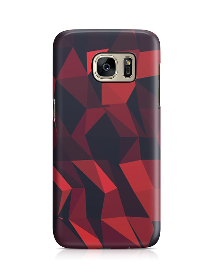 Shop Loud Universe Thermoplastic Polyurethane Wrap Around Case For Samsung  Galaxy S7 Edge Red And Black Geomaterial Pattern online in Dubai, Abu Dhabi