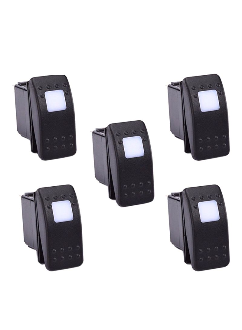 Shop XHtang 5-Piece LED Rocker Toggle Switch online in Dubai