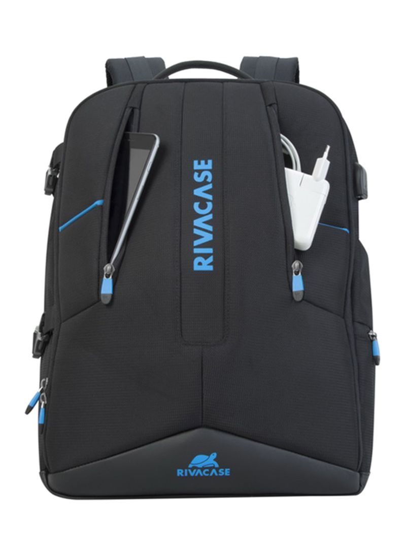 Shop RivaCase Borneo Gaming Backpack Black Blue 17.3 inch online in ... 60d52b7f3c