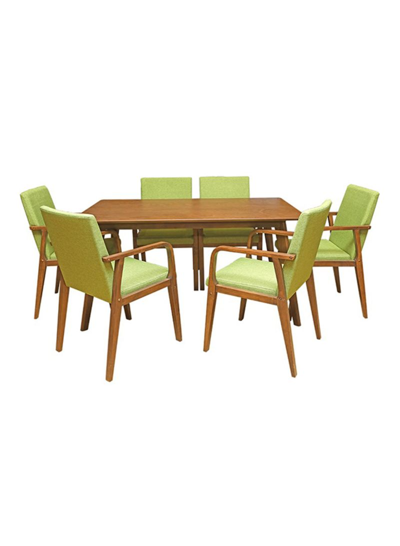 Shop PAN Emirates 7 Piece Taskman Dining Table And Chair Set Light