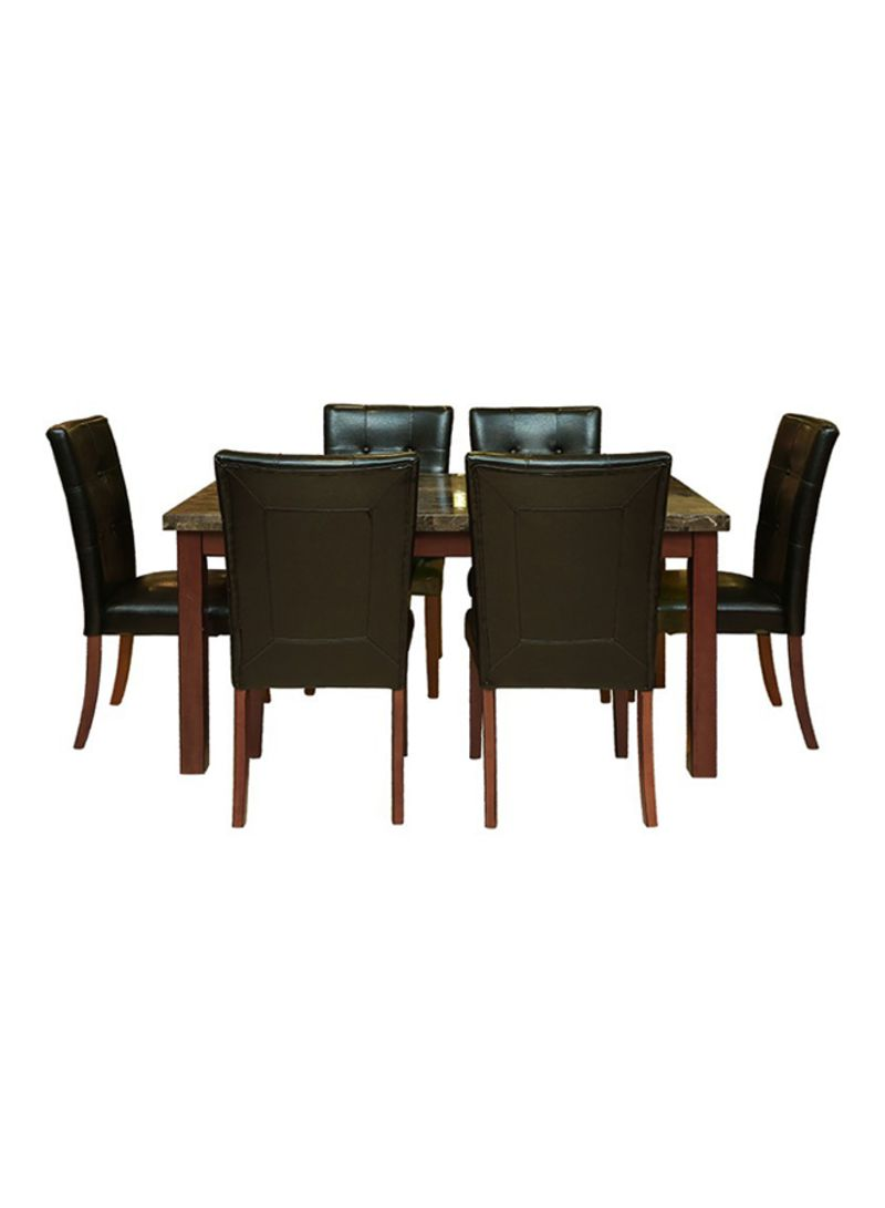 Shop PAN Emirates 7 Piece Excalibur Dining Table And Chair Set Black