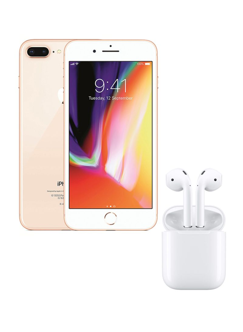 best loved d96f3 95e87 Shop Apple iPhone 8 Plus With FaceTime Gold 64GB 4G LTE With Wireless  AirPods online in Riyadh, Jeddah and all KSA