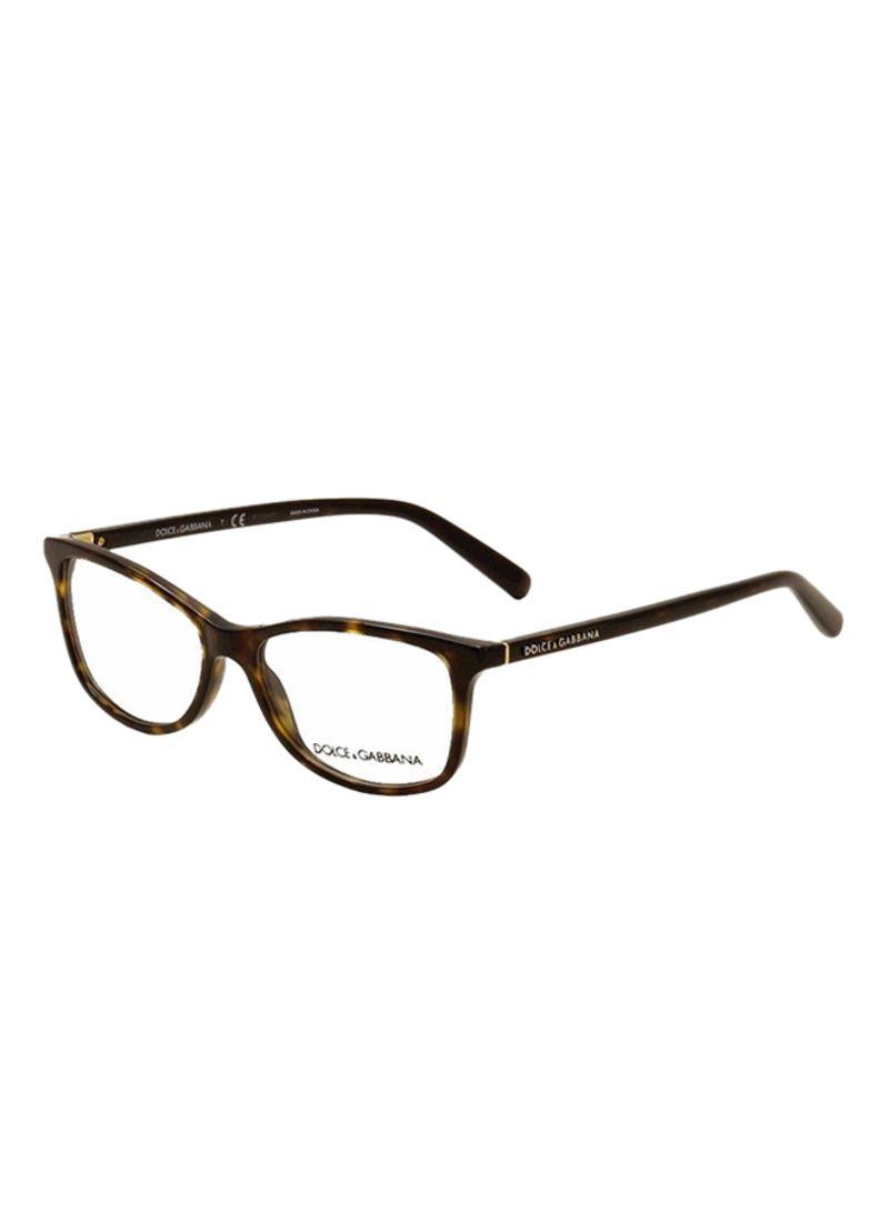36fcfcf66e75a Shop Dolce   Gabbana Rectangular Eyeglasses DG3222-502-52 online in ...