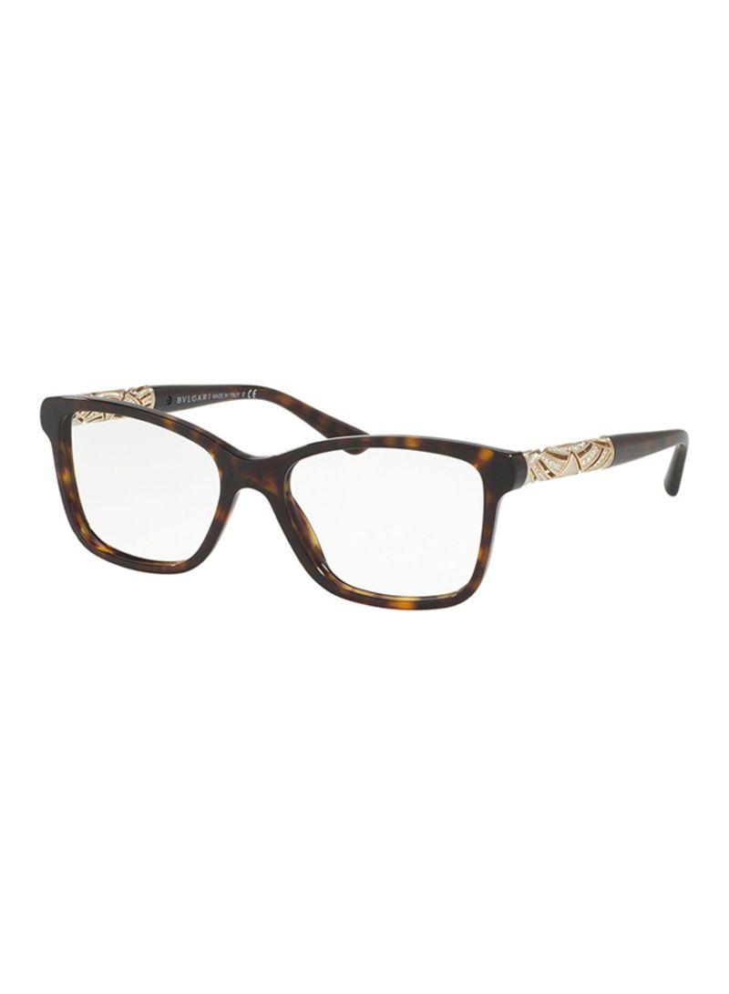 c1aad2847823c Shop BVLGARI Women s Rectangular Eyeglasses BV4125B-504-52 online in ...