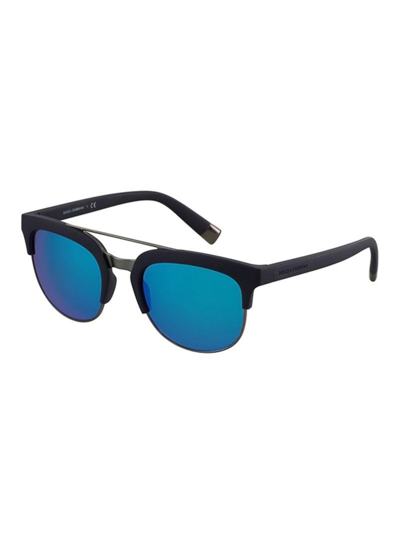 6c59e65083668 Shop Dolce   Gabbana Men s Clubmaster Sunglasses DG6103-303125-55 ...