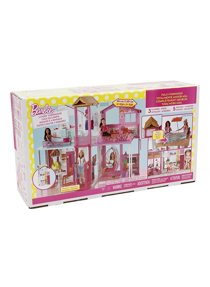 Barbie 3-Story Townhouse Working Elevator and Pop-up umbrella Free Shipping!